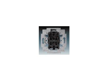 ABB 3559-A52345 Přístroj přepínače schodišťového ( střídavého) dvojitého Tango