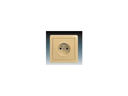 ABB 5518G-C02349D1 Zásuvka jednonásobná s ochranným kolíkem béžová Swing
