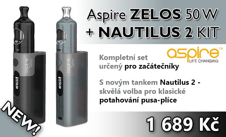 Novinka - Aspire ZELOS 50 W + NAUTILUS 2 KIT
