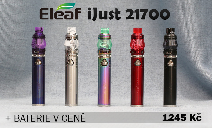 NOVINKA - Eleaf IJUST 21700 KIT 80W, 5,5 ml + BATERIE