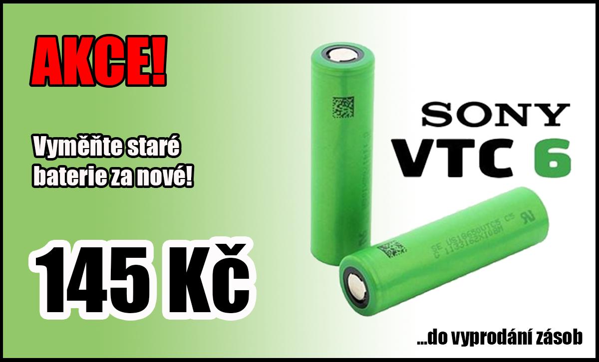 AKCE - Baterie SONY VTC6 za 145 Kč!