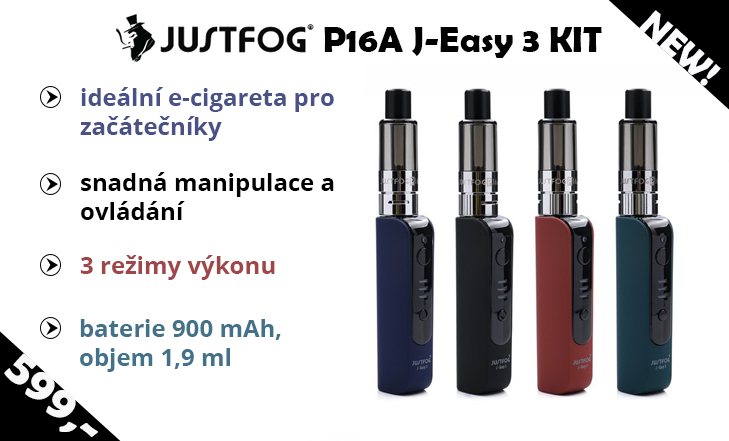Novinka - Justfog P16A J-Easy 3 KIT