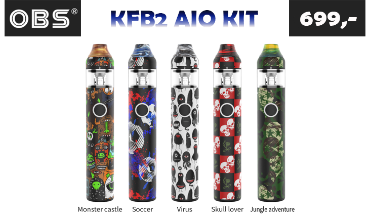 OBS KFB2 AIO KIT 1500 mAh, 2 ml