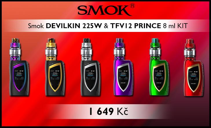 Novinka - Smok DEVILKIN 225W & TFV12 PRINCE 8 ml KIT