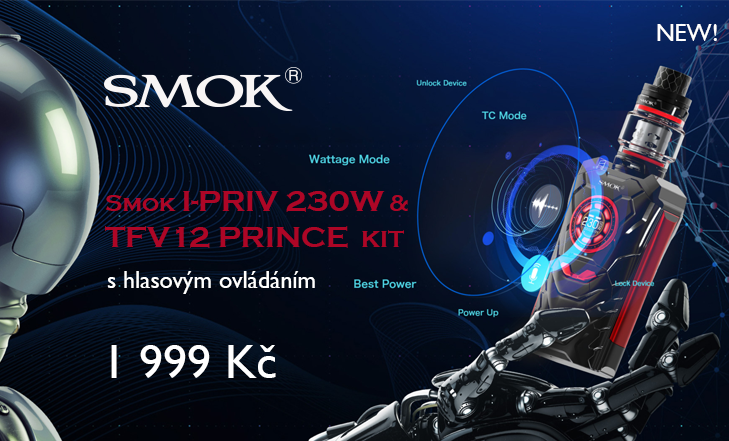 Novinka - SMOK I-PRIV & TFV12 PRINCE KIT