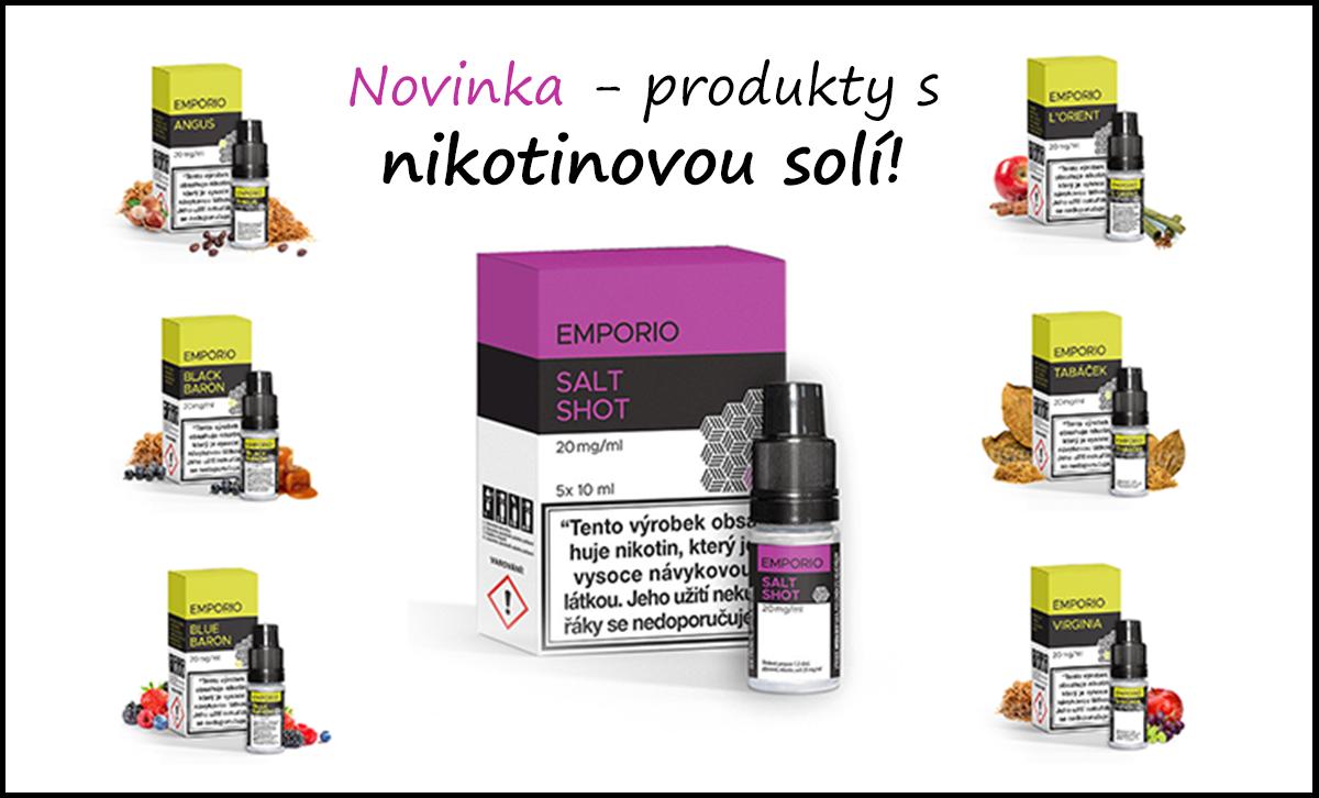 Novinka - produkty s nikotinovou solí