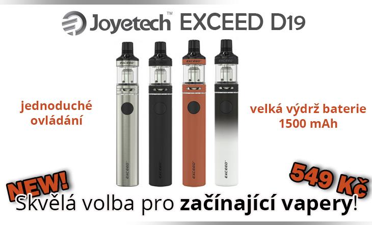 Skvělé elektronické cigarety pro začátečníky - Joyetech EXCEED D19