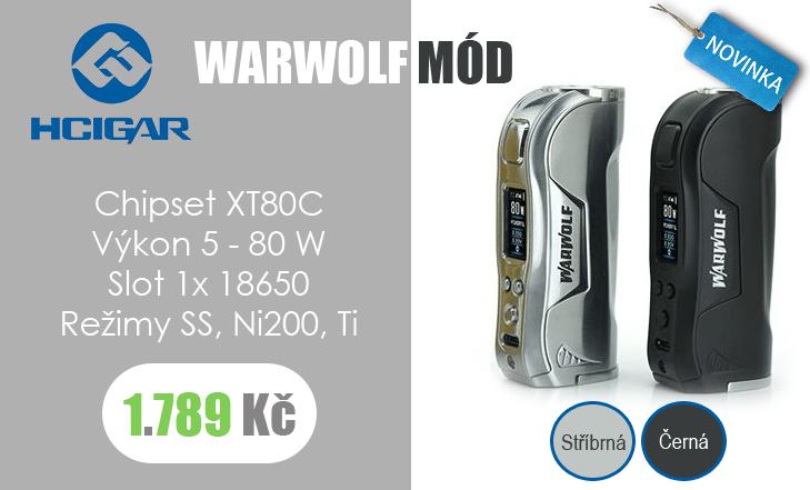 Nový mód od HCigar - WARWOLF s čipem XT80C!