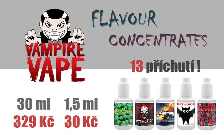 Vampire Vape - Nové příchutě Flavour Concentrates