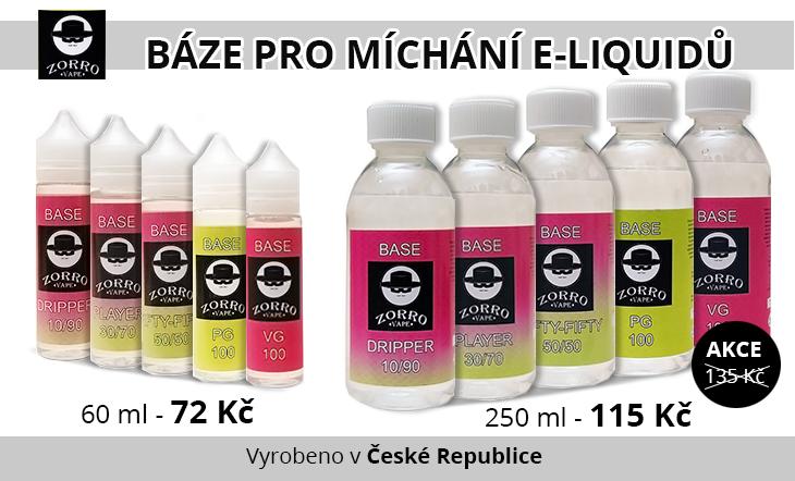 Zorro Vape - báze pro míchání e-liquidů