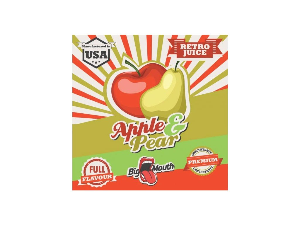 Big Mouth Retro APPLE PEAR
