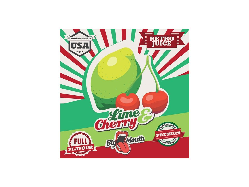Big Mouth Retro LIME CHERRY