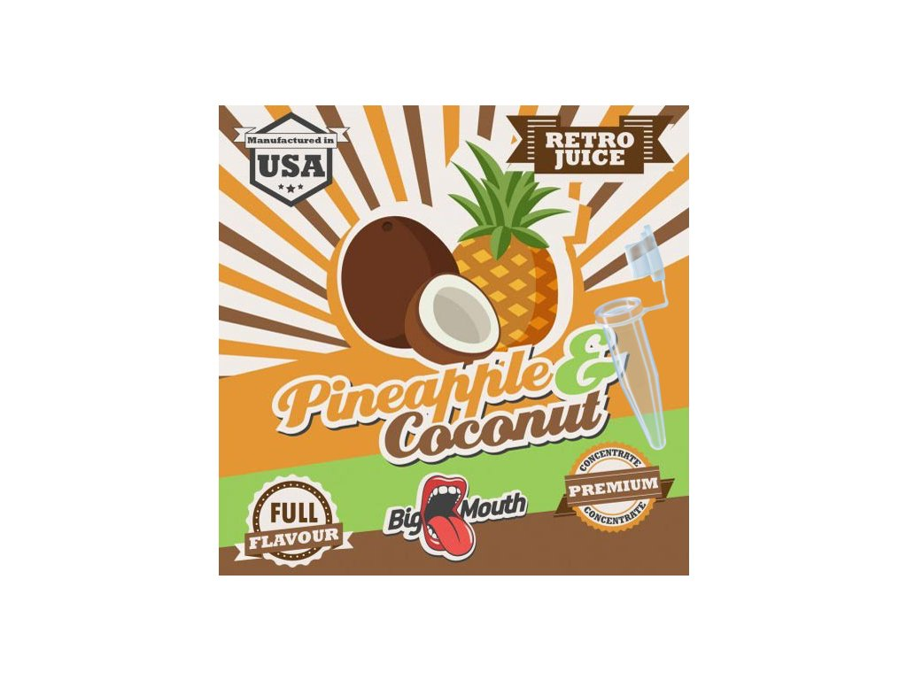 Big Mouth Retro PINEAPPLE COCONUT TESTER