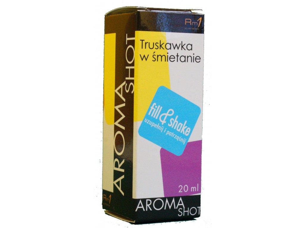 Aroma SHOT Rm1 JAHODA SE SMETANOU 20 ml, 0 mg
