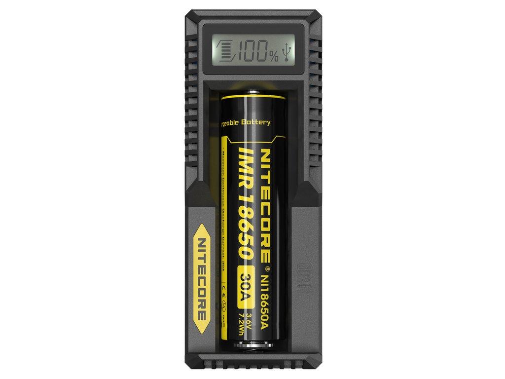 Nitecore UM10 USB NABÍJEČKA S LCD 1000 mAh, 1 slot, Černá