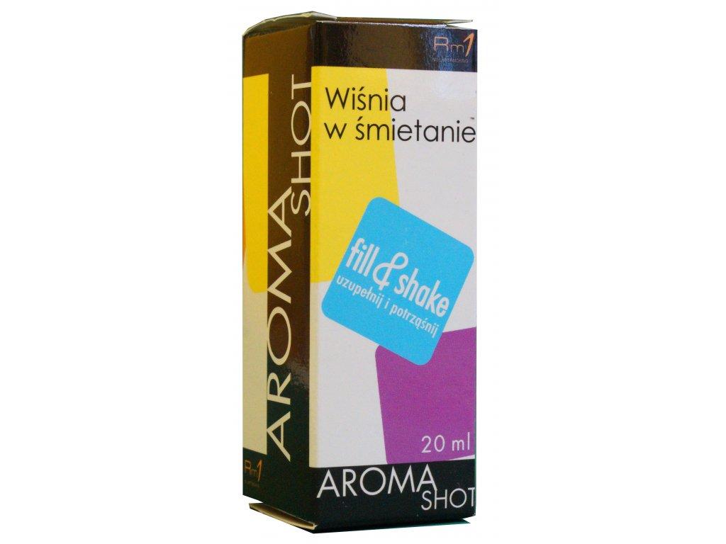 Aroma SHOT Rm1 VIŠNĚ SE SMETANOU 20 ml, 0 mg