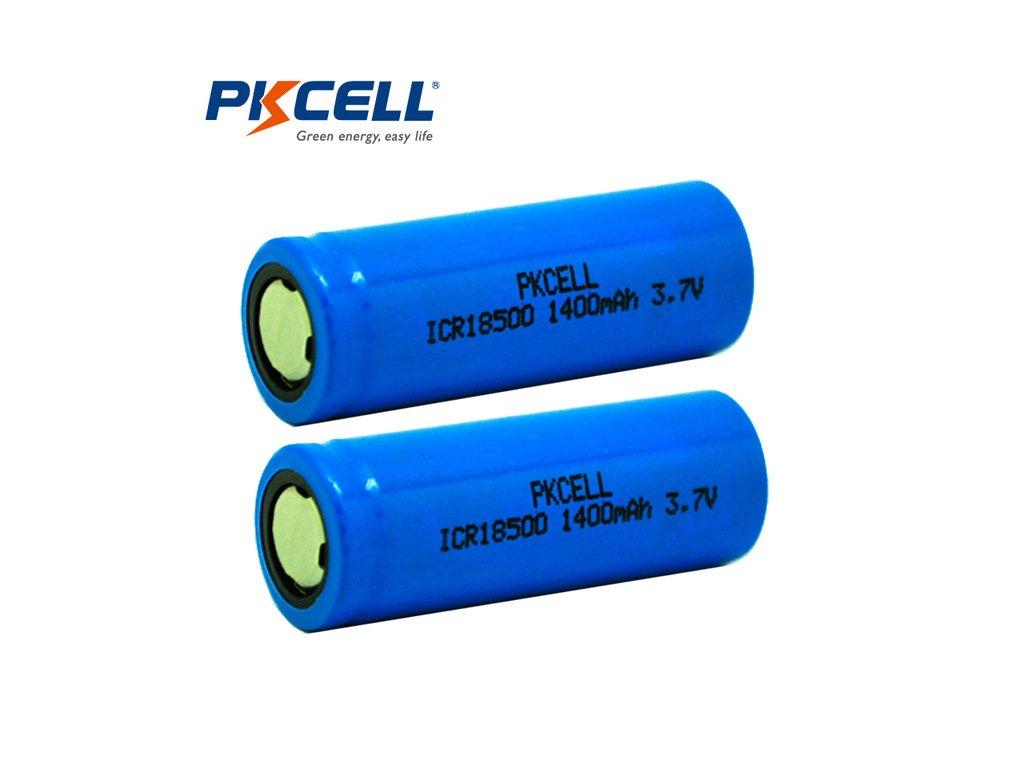 PKCELL Baterie ICR 18500 1400 mAh 3,7 V
