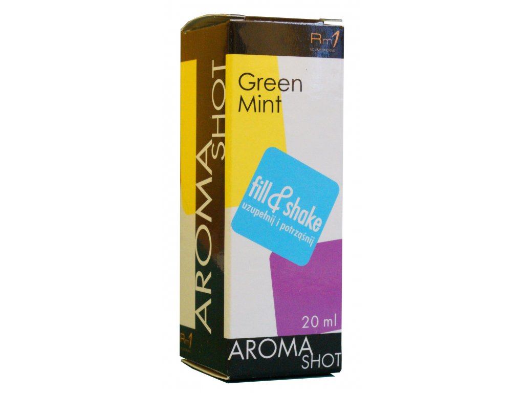 Aroma SHOT Rm1 ZELENÁ MÁTA 20 ml, 0 mg