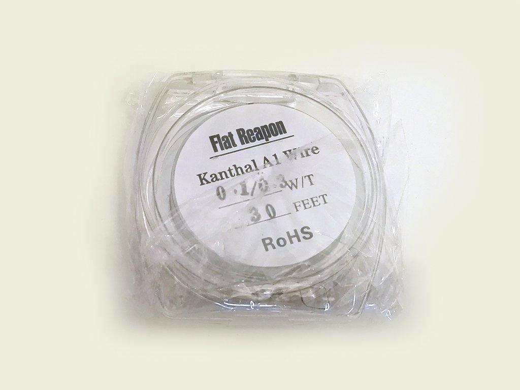 Drát FLAT REAPON KANTHAL A1 0,1/0,3 mm 35 G, 10 m