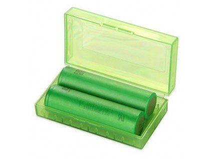 Krabička na 2 články 18650 Zelená