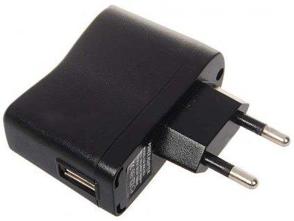 Nabíječka USB AC ADAPTÉR 220 V Černý