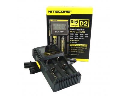 Nitecore D2 NABÍJEČKA S LCD 2 sloty Černá