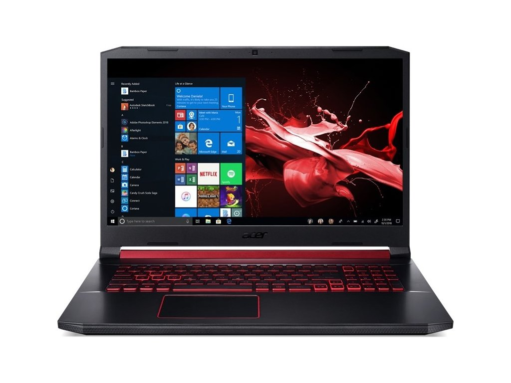 "Ntb Acer Nitro 5 (AN515-54-7386) i7-9750H, 16GB, 1024 GB, 15.6"", Full HD, bez mechaniky, nVidia GeForce GTX 1660 Ti, 6 GB, BT, CAM, W10 Home  - černý"