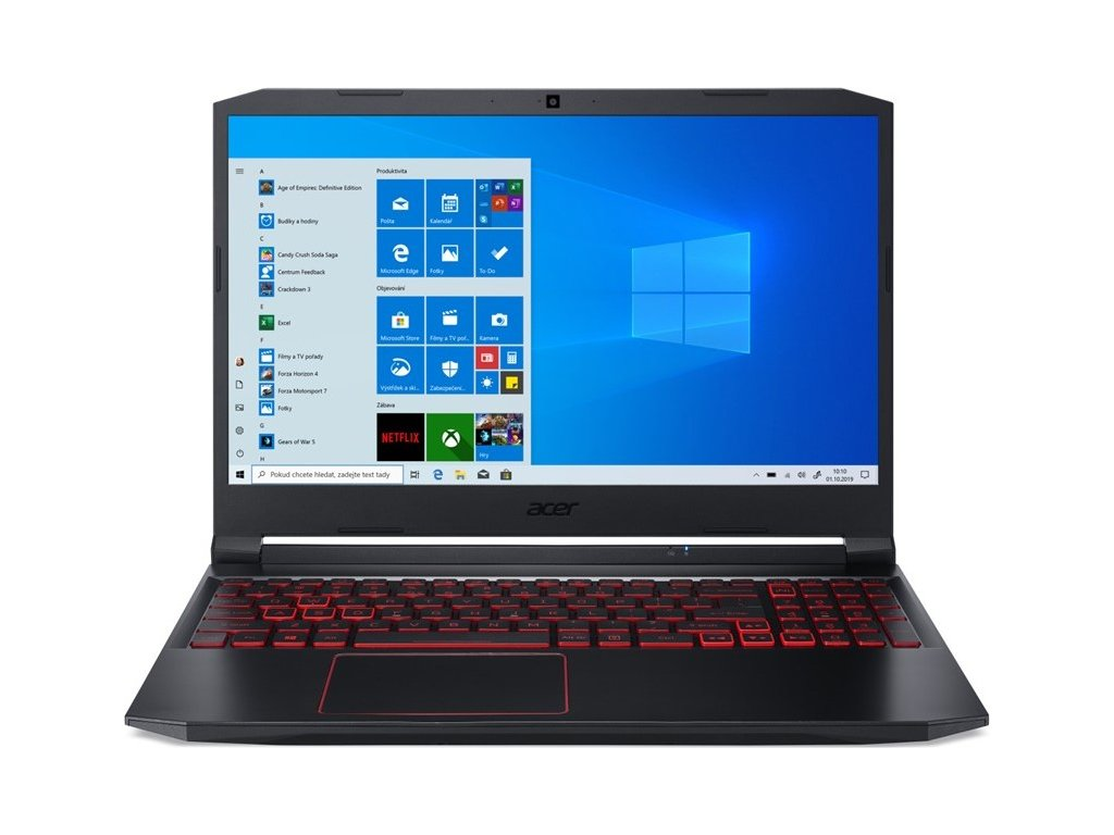 "Ntb Acer Nitro 5 (AN515-55-71UN) i7-10750H, 16GB, 1024 GB, 15.6"", Full HD, bez mechaniky, nVidia GeForce GTX 1650 Ti, 4GB, BT, CAM, W10 Home  - černý"