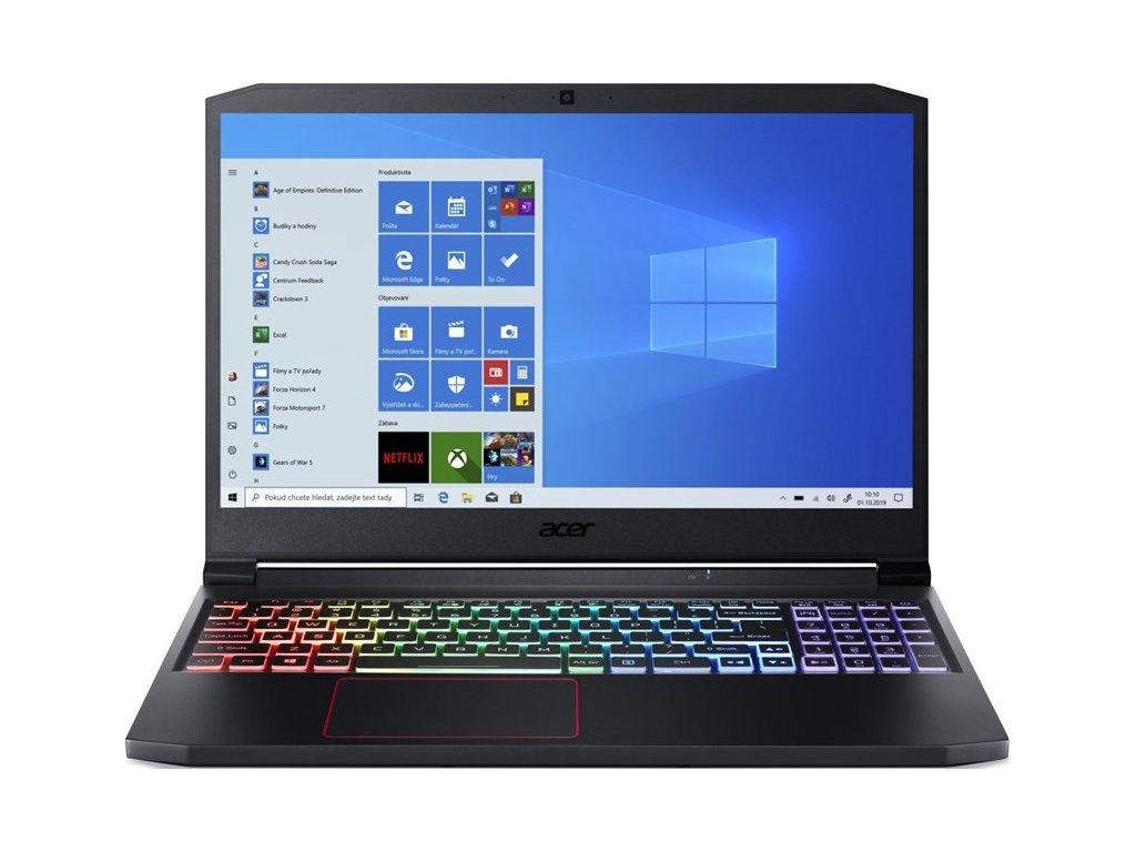 "Ntb Acer Nitro 7 (AN715-52-571E) i5-10300H, 16GB, 1024 GB, 15.6"", Full HD, bez mechaniky, nVidia GeForce RTX 2060, BT, CAM, W10 Home  - černý"