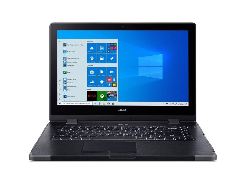 """Ntb Acer Enduro N3 (EN314-51W-563C) i5-10210U, 16GB, 512GB, 14"""", Full HD, bez mechaniky, Intel HD, BT, FPR, CAM, Win10 Pro  - černý"""