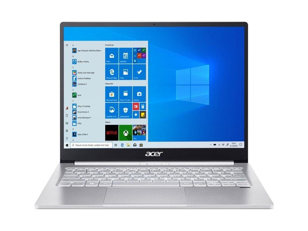 "Ntb Acer Swift 3 (SF313-53-594G) i5-1135G7, 8GB, 512GB, 13,5"", 2256 x 1504, bez mechaniky, Intel Iris Xe, BT, FPR, CAM, W10 Home  - stříbrný"