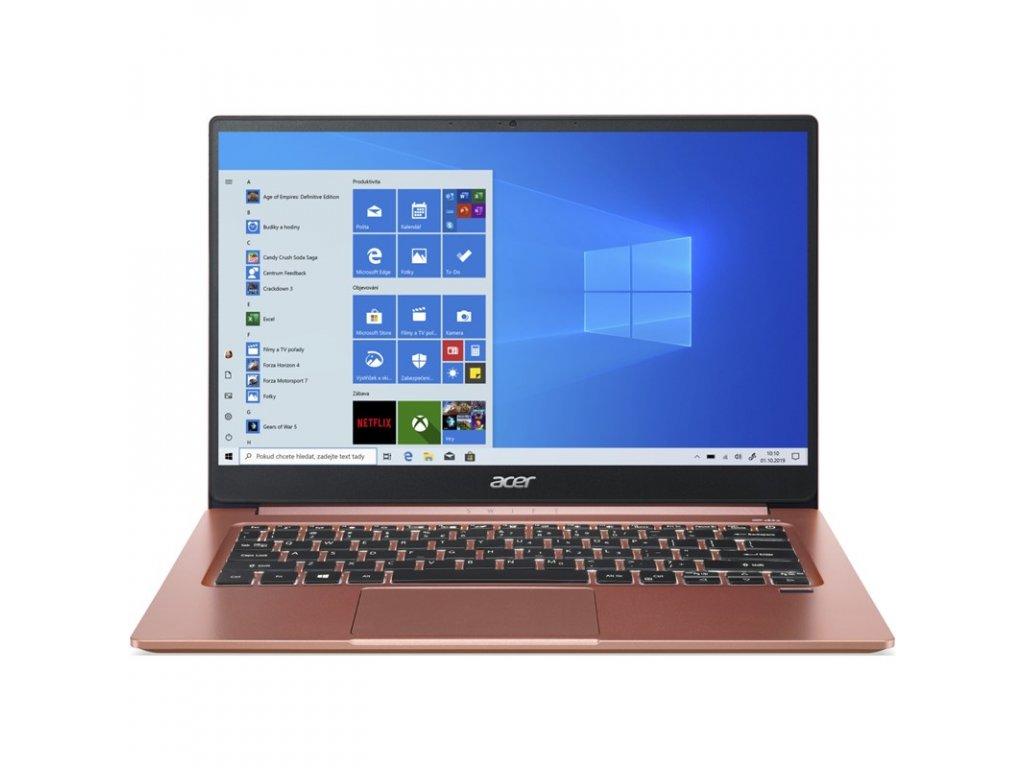 "Ntb Acer Swift 3 (SF314-59-54TN) i5-1135G7, 8GB, 256GB, 14"", Full HD, bez mechaniky, Intel Iris Xe, BT, FPR, CAM, W10 Home  - oranžový"