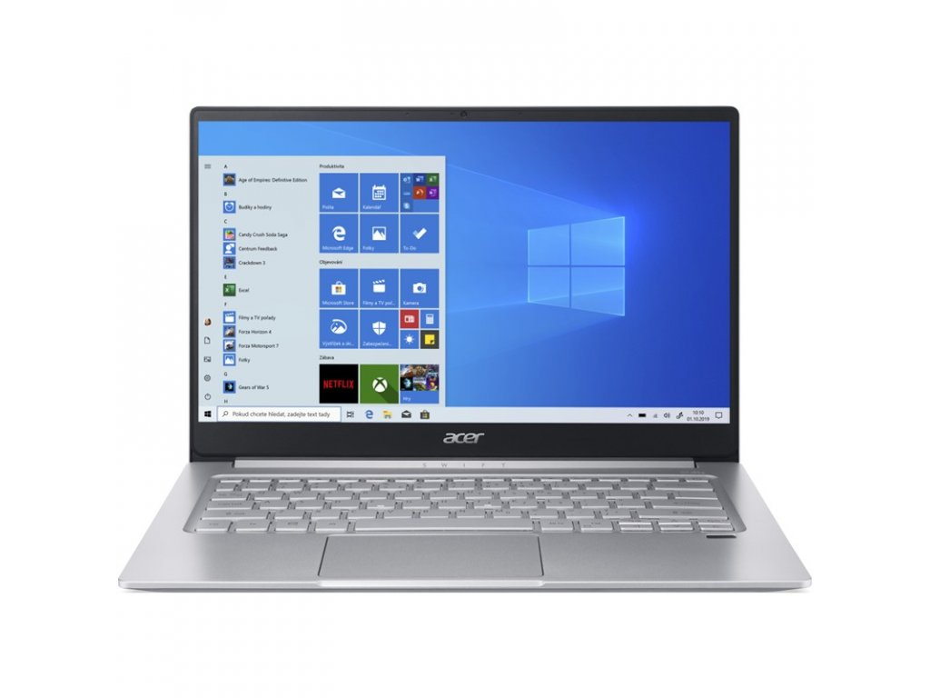 """Ntb Acer Swift 3 (SF314-59-76PT) i7-1165G7, 16GB, 1024 GB, 14"""", Full HD, bez mechaniky, Intel Iris Xe, BT, FPR, CAM, W10 Home  - stříbrný"""