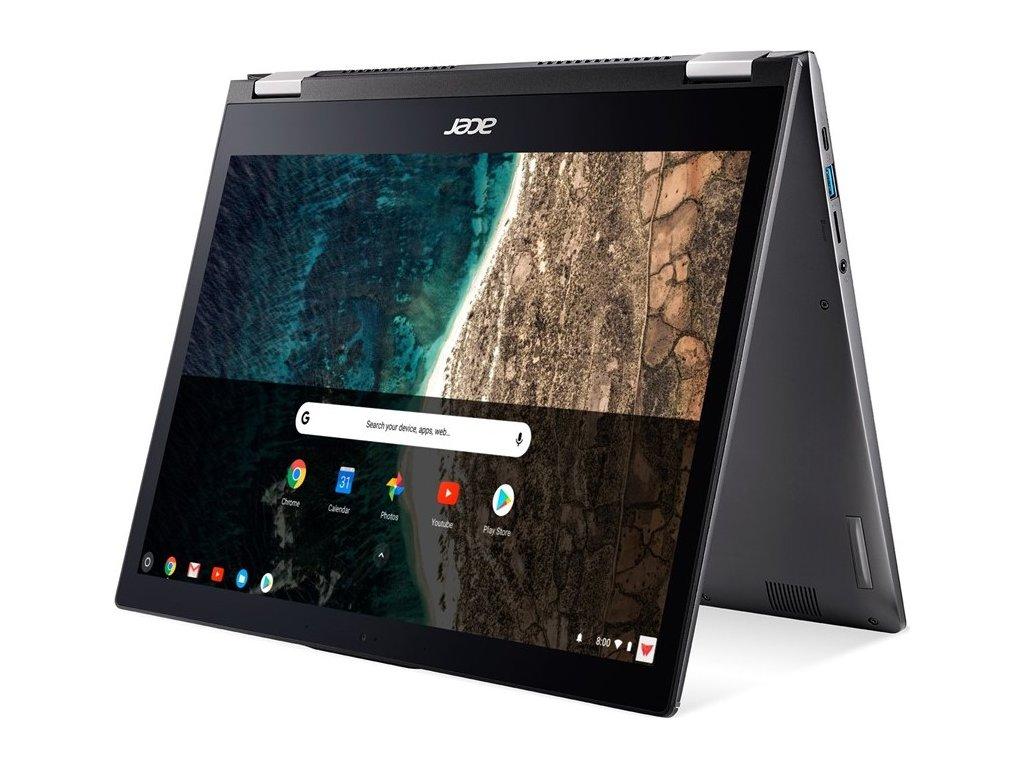"""Ntb Acer Chromebook Spin 13 (CP713-1WN-36HW) i3-8130U, 8GB, 128GB, 13.5"""", 2256 x 1504, bez mechaniky, Intel UHD 620, BT, FPR, CAM, Chrome OS  - šedý"""