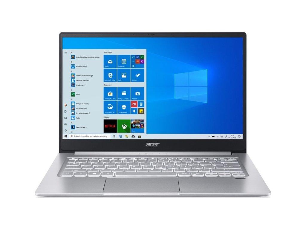 """Ntb Acer Swift 3 (SF314-42-R073) R7-4700U, 16GB, 1024 GB, 14"""", Full HD, bez mechaniky, AMD BT, FPR, CAM, W10 Home  - stříbrný"""
