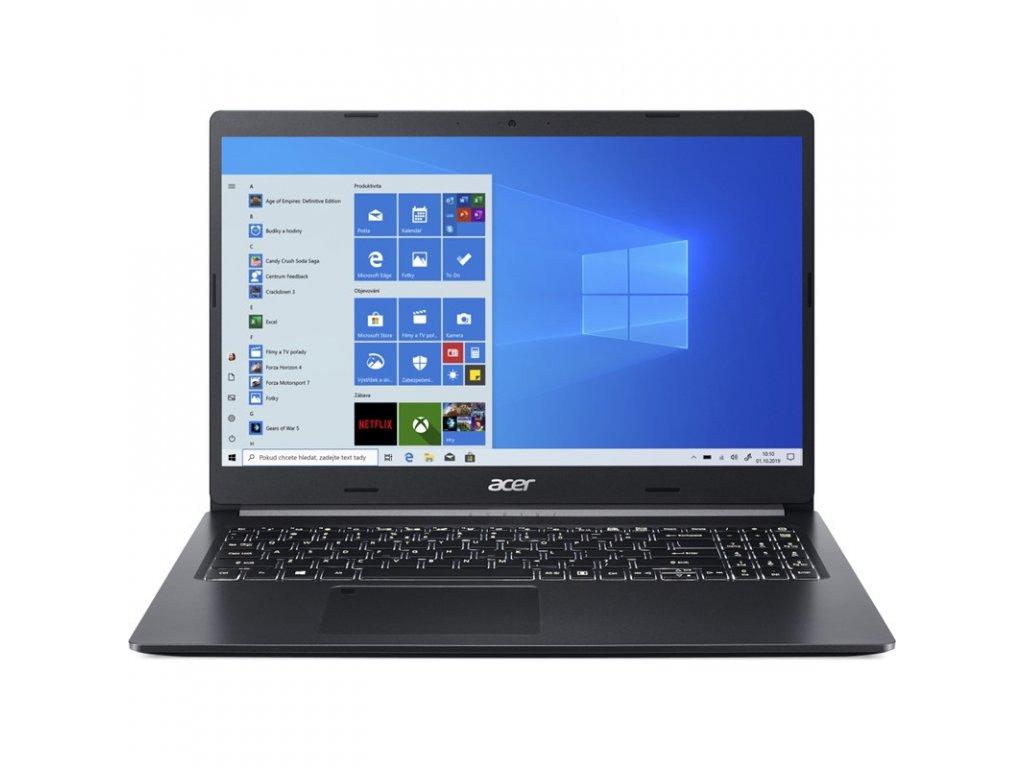 "Ntb Acer Aspire 5 (A515-55-539R) i5-1035G1, 16GB, 512GB, 15.6"", Full HD, bez mechaniky, Intel UHD Graphics, BT, FPR, CAM, W10 Home  - černý"