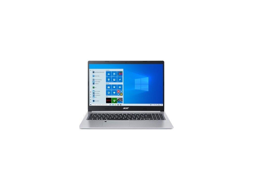 "Ntb Acer Aspire 5 (A515-55G-79Y9) i7-1065G7, 16GB, 1024 GB, 15.6"", Full HD, bez mechaniky, nVidia GeForce MX350, 2GB, BT, FPR, CAM, W10 Home  - stříbrný"