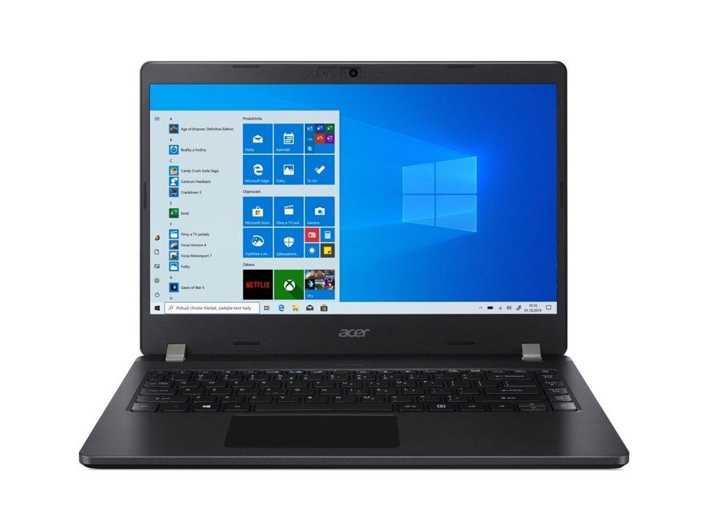 "Ntb Acer TravelMate P2 (TMP214-52-57BX) i5-10210U, 8GB, 512GB, 14"", Full HD, bez mechaniky, Intel UHD Graphics, BT, FPR, CAM, Win10 Pro  - černý"