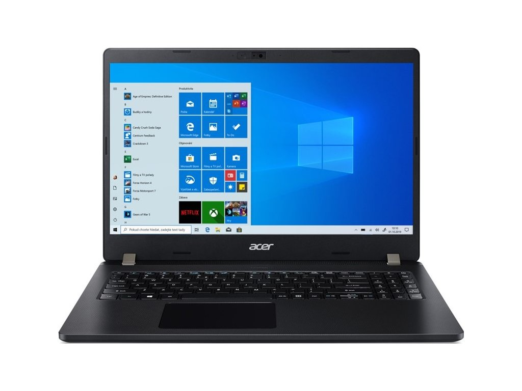 "Ntb Acer TravelMate P2 (TMP215-52-50M0) i5-10210U, 8GB, 512GB, 15.6"", Full HD, bez mechaniky, Intel UHD Graphics, BT, FPR, CAM, Win10 Pro  - černý"