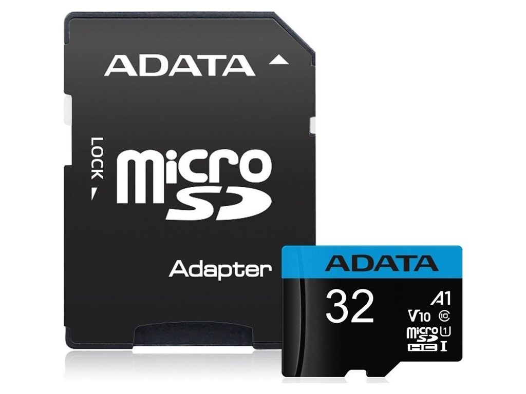 Paměťová karta ADATA Premier Micro SDHC 32GB UHS-I (85R/20W) + adaptér