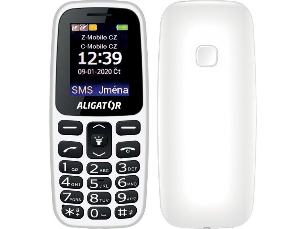 Mobilní telefon Aligator A220 Senior Dual SIM - bílý