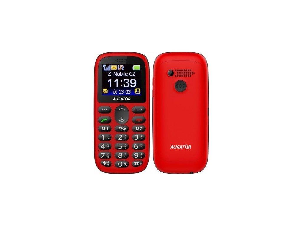 Mobilní telefon Aligator A510 Senior - černý/červený