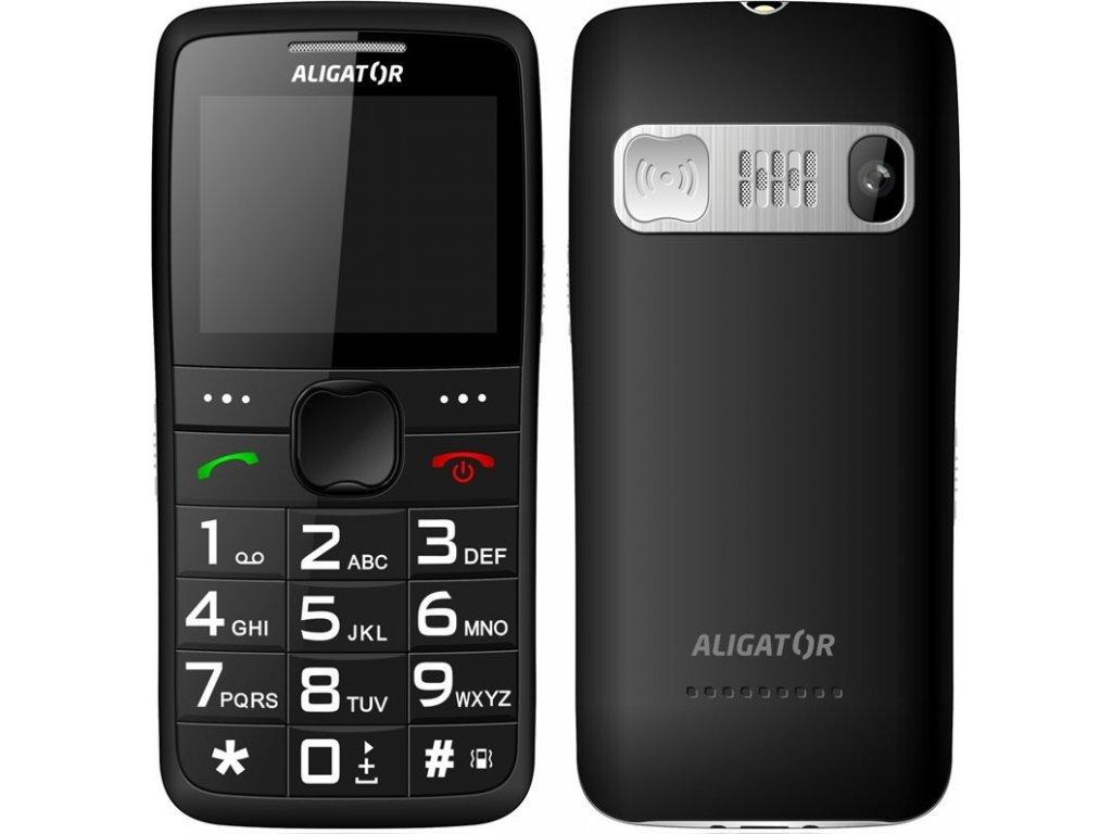 Mobilní telefon Aligator A675 Senior - černý