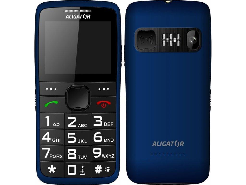 Mobilní telefon Aligator A675 Senior - modrý