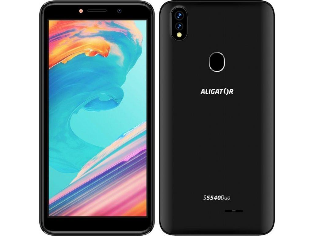Mobilní telefon Aligator S5540 Dual SIM - černý