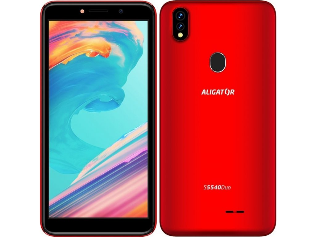 Mobilní telefon Aligator S5540 Dual SIM - červený