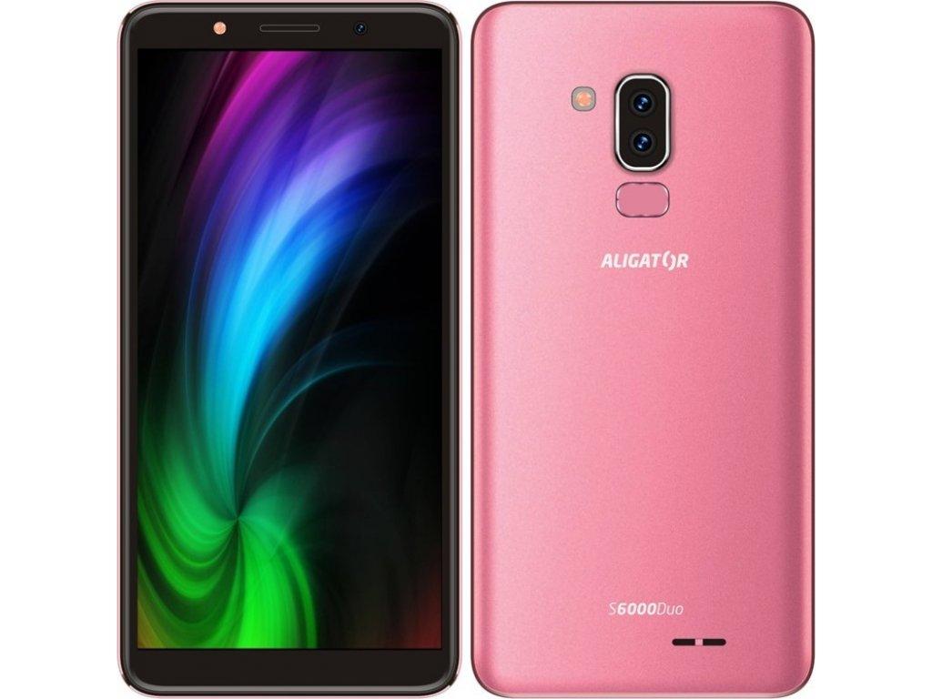 Mobilní telefon Aligator S6000 Dual SIM - růžový