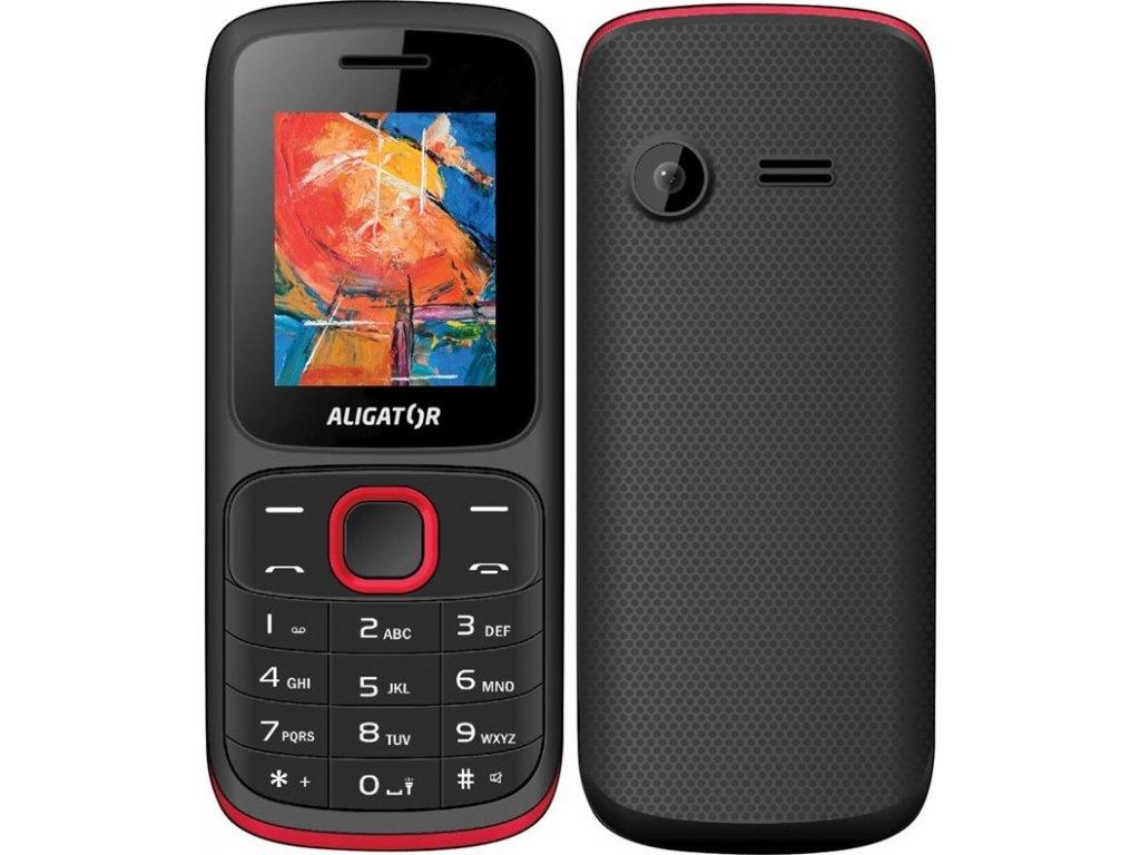 Mobilní telefon Aligator D210 Dual SIM - černý/červený