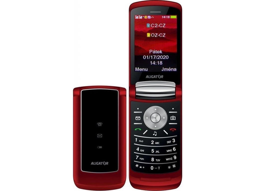 Mobilní telefon Aligator DV800 Dual SIM - červený
