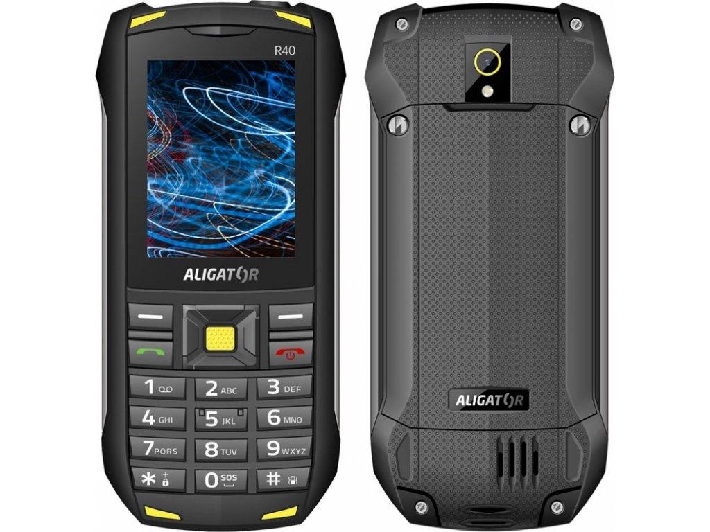 Mobilní telefon Aligator R40 eXtremo - černý/žlutý